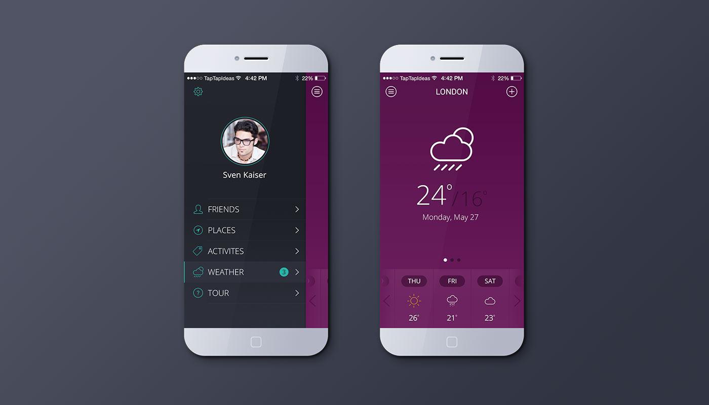 Mobile app - default color